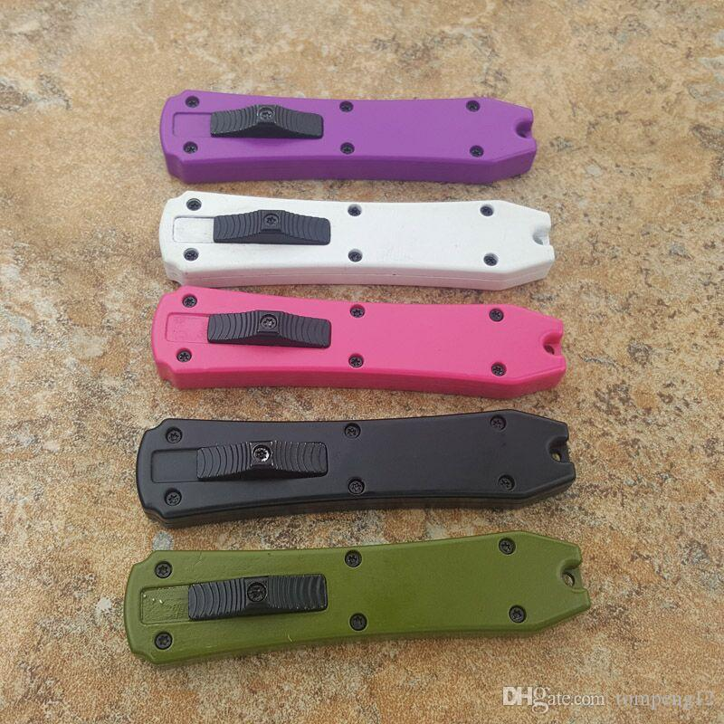 Mini Keychain Knife Three Blades A16 A161 A162 A163 survival camping hunting knife folding Crafts collect knife