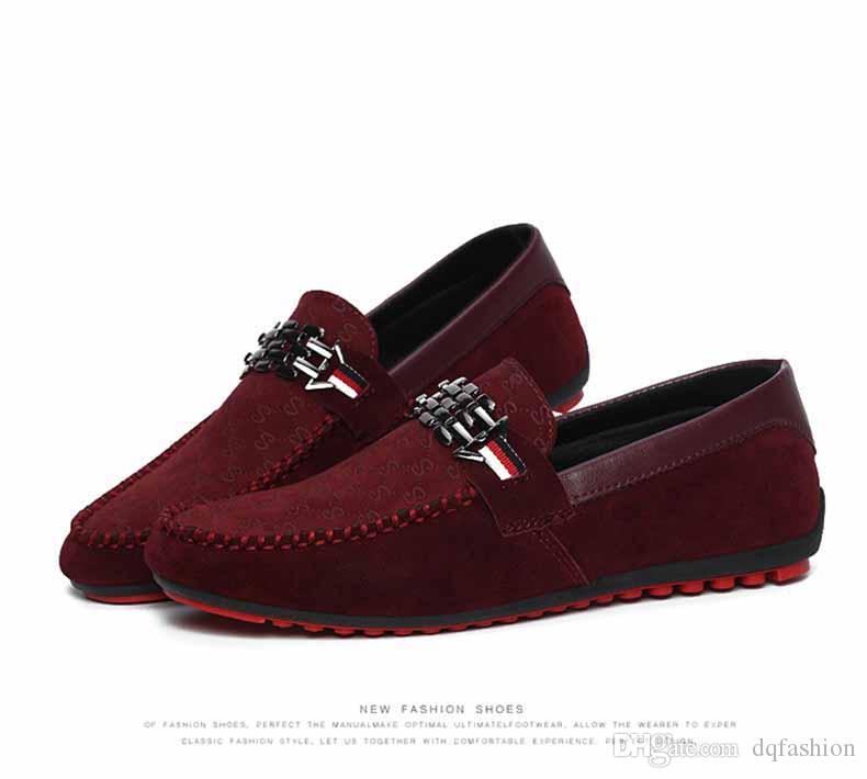 Red Bottoms Loafers Black Men Shoes Slip On Men's Leisure Flat Shoes Fashion Male Breathable