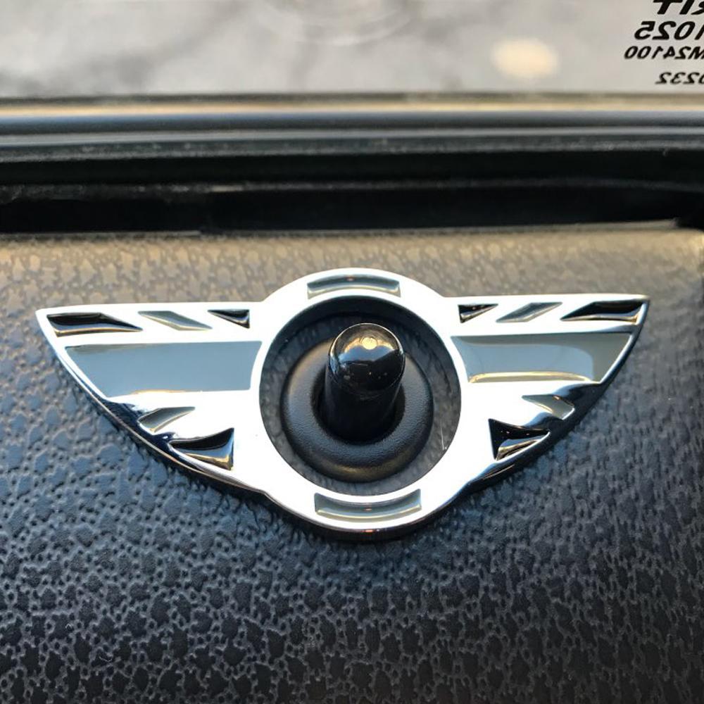 Car Interior Door Pin Lock Wing Emblem Badge Stickers For Mini