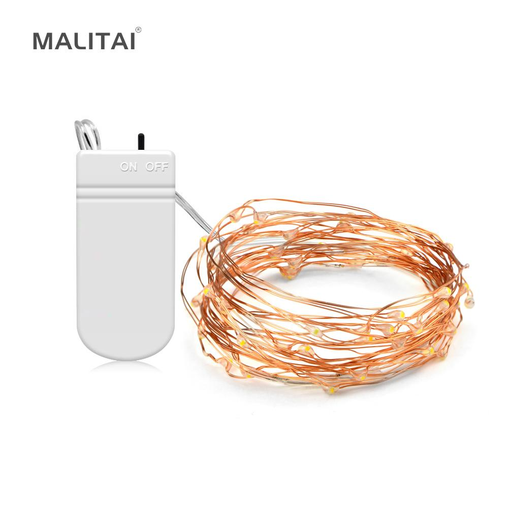 Led String Light 2m 5m Copper Wire Waterproof Led Strip Lighting ...
