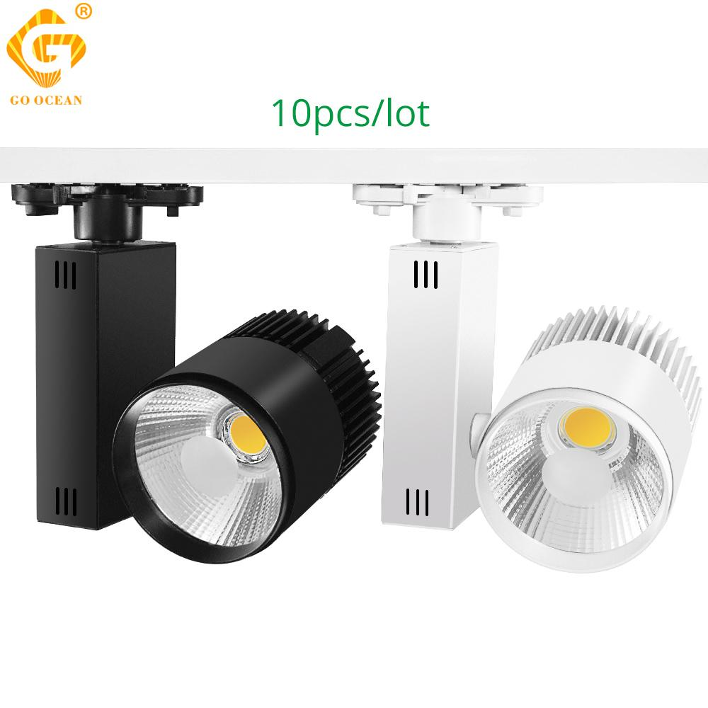 2019 track lighting led track light 20w cob spot shoe stores clothing shop windows showroom exhibition spotlight rail lamp from szgoldenocean
