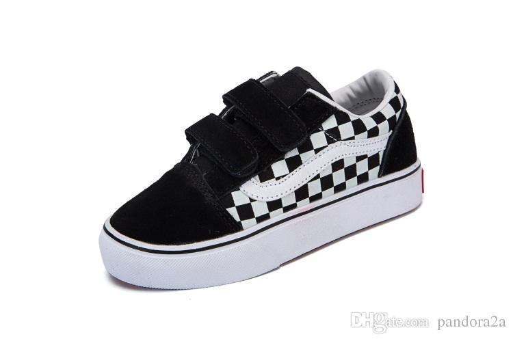 1b686f09c46 Compre Vans Old Skool Low Top CLASSICS 2018 Marca Crianças Sapatos Casuais  Juventude Meninos Meninas Sapatilhas Tênis De Corrida Babay Crianças Tênis  De ...