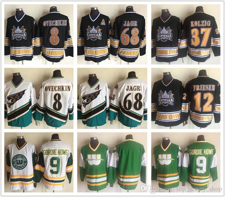 59473dcc4e2 Hartford Whalers 9 Gordie Howe Washington Capitals 8 Alex Ovechkin ...