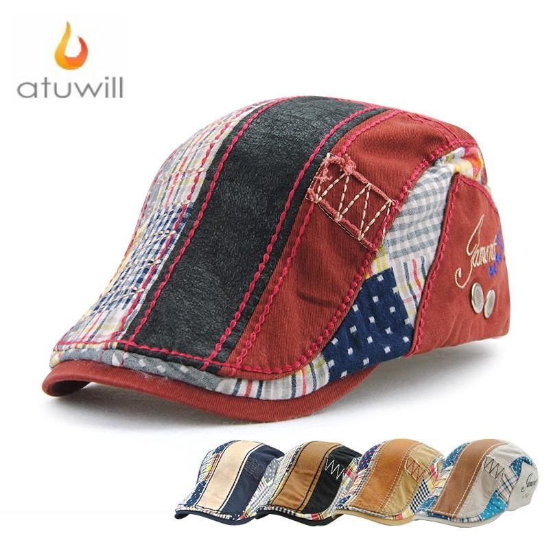 b1938b16f39 2019 Atuwill England Style Cotton Berets Hat Flat Caps For Men Peaky  Blinders Hat For Women Boina Hombre Feminina Boinas Para Homens From Gunot