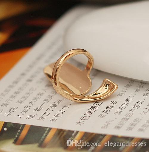 Top vendita moda europea carino retrò fiore libellula perline strass plum serpente oro argento anello dito chiodo anelli gioielli da sposa a buon mercato