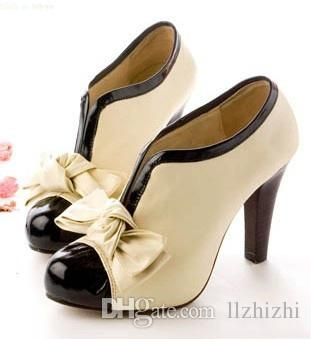 2018 New Korean version Vintage glamour girl with high heels and chunky heels. T211