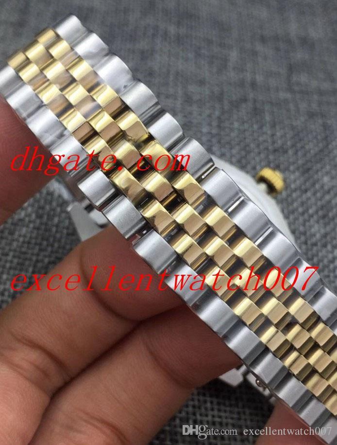 Горячие продажи высокое качество Азия 2813 механизм 18 к желтое золото президент Алмаз римское вино поверхность циферблат 225235 автоматические мужские часы