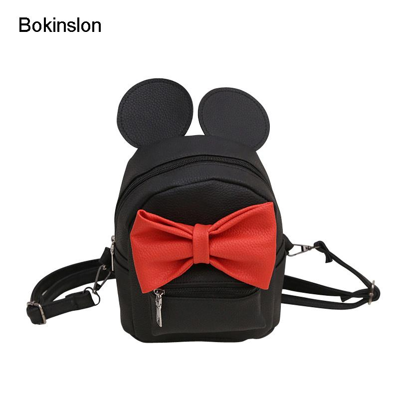a296fbd24320c Bokinslon Cute Backpacks Woman Bowknot Fashion Mini Women Bags Fashion  Exquisite Ladies Multifunction Bags Wheeled Backpacks Leather Backpacks  From Croftte, ...