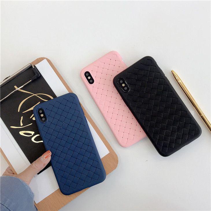 official photos 56463 de782 Latest Wholesale For iphone case grid weave heat dissipation mobile case  tpu back cover phone case