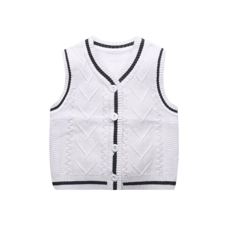 f48364b61716 Knitted Baby Boys Vest Sweater 6 18M Todder Baby Sweater Vest V Neck ...