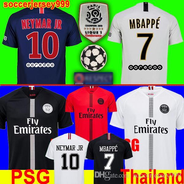 999d583bda1 Acheter Thaïlande PSG AIR JORDAN 3RD Third Troisième 18 19 Maillots De  Football 2018 2019 Paris Saint Germain Maillots Champions Champion NEYMAR  JR MBAPPE ...