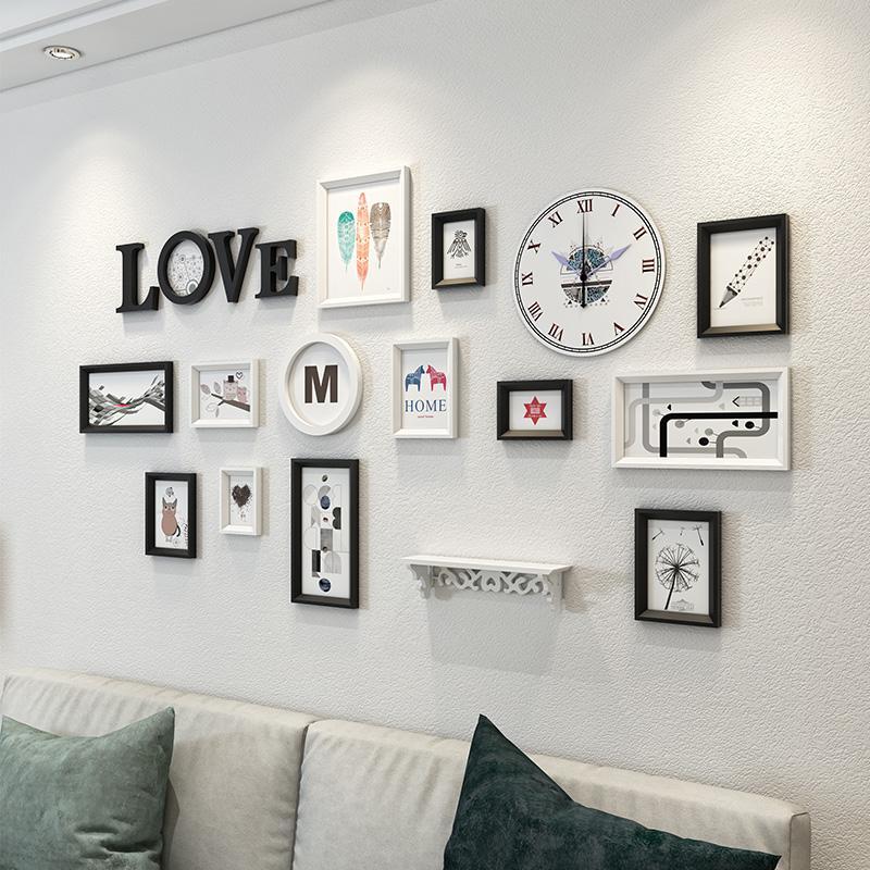 2018 Diy Solid Wood Multi Frame Picture Frames Home Decor Modern ...