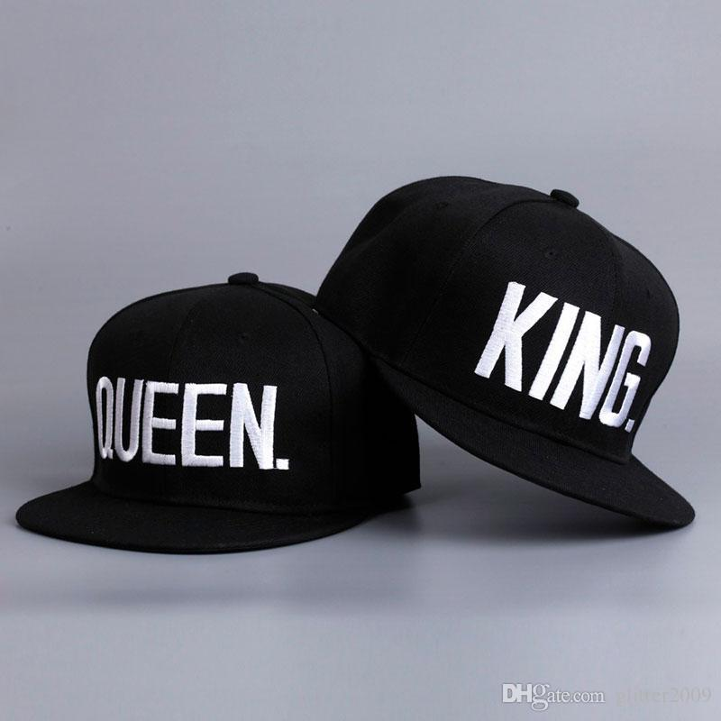 5f3d9df7161 New 2017 Hot Sale KING QUEEN Hip Hop Baseball Caps Canvas Letter Laps  Lovers Snapback Sun Hat For Men Women Design Your Own Hat Make Your Own Hat  From ...