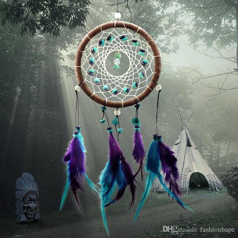 Antique Dreamcatcher Style Indien Turquoise Avec Plume Rêve Capteur De  Voiture Suspendu Décoration Salle De Bains Décoration Creative Cadeau ...
