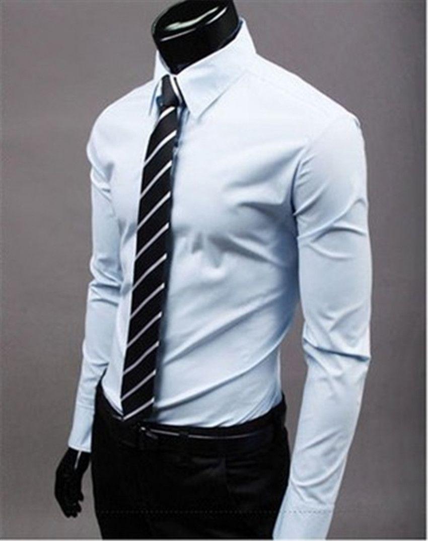 dc34c237ad Camisa Social Feminina Nova Marca De Moda Luz Azul Noivo Camisas De Manga Longa  Camisa Dos Homens Slim Design Formal Casual Masculino Vestido De Camisa ...