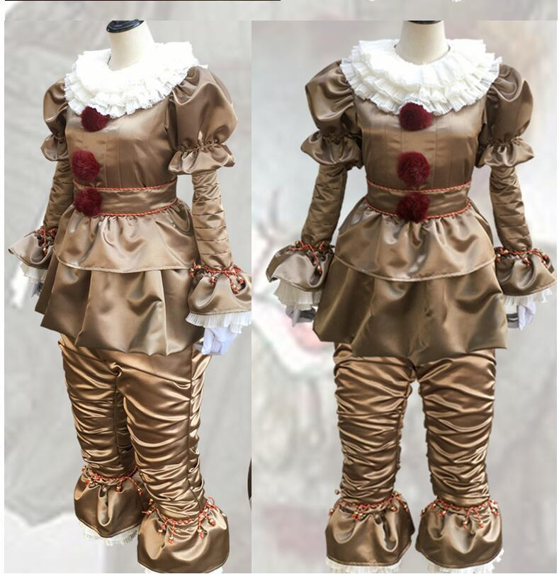 b944d95c7988 Acquista 2018 Stephen King s It Pennywise Cosplay Costume Adulto Unisex  Donna Costume Halloween Terror Clown Costume Senza Le Scarpe A  46.06 Dal  ...