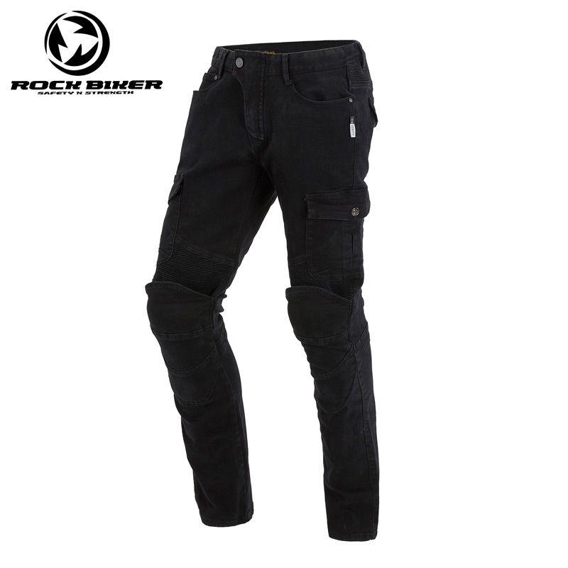cf2e414440 ROCK BIKER For KOMINE Pantaloni moto Nero Pantaloni moto fuoristrada Jeans  Motocross Pantalone Gear con protezioni