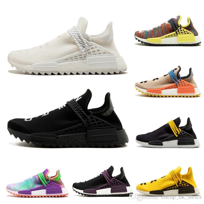939e4ffcc Designer Nmd Human Race Hu Trail Pharrell Williams Men Women Running Shoes  Nerd Black Cream Holi Mens Trainer Sports Shoe Sneaker Size 5 12 Cheap Shoes  Men ...