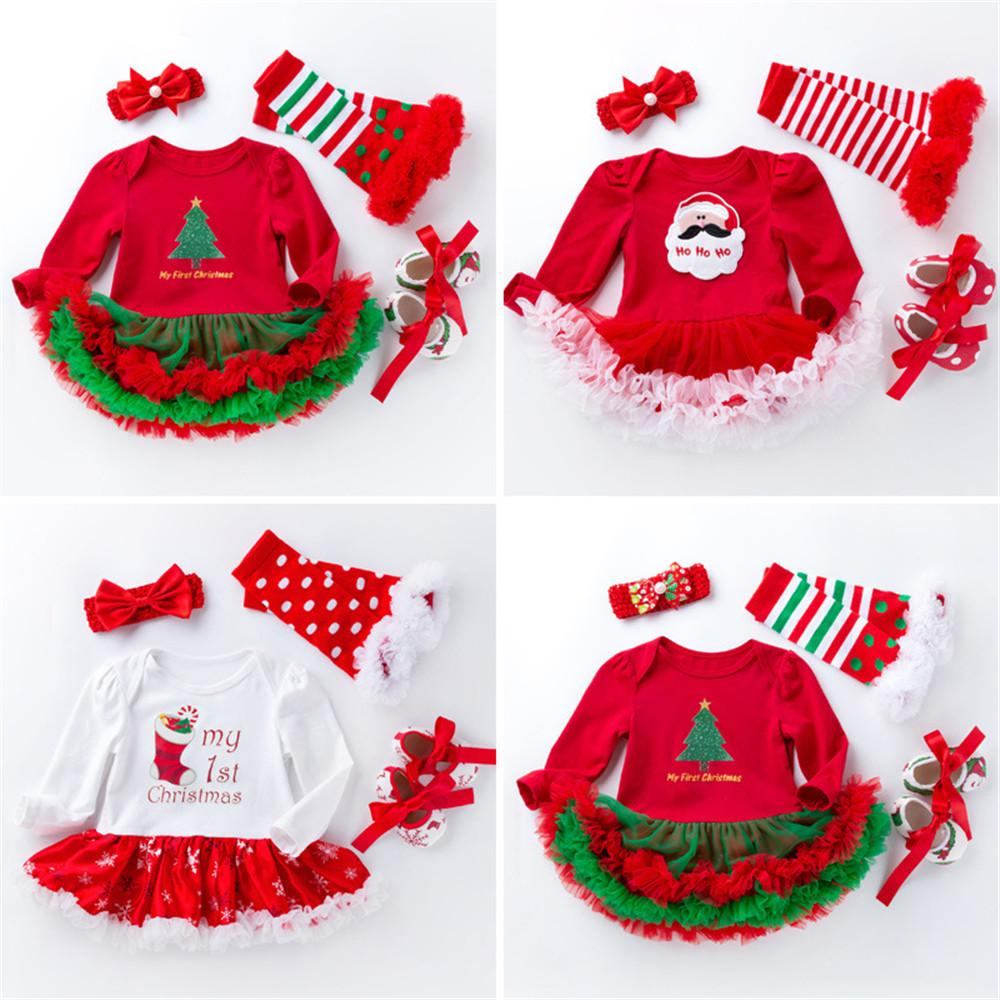 Christmas Baby Costumes Cloth Infant Toddler Girls First Christmas ...