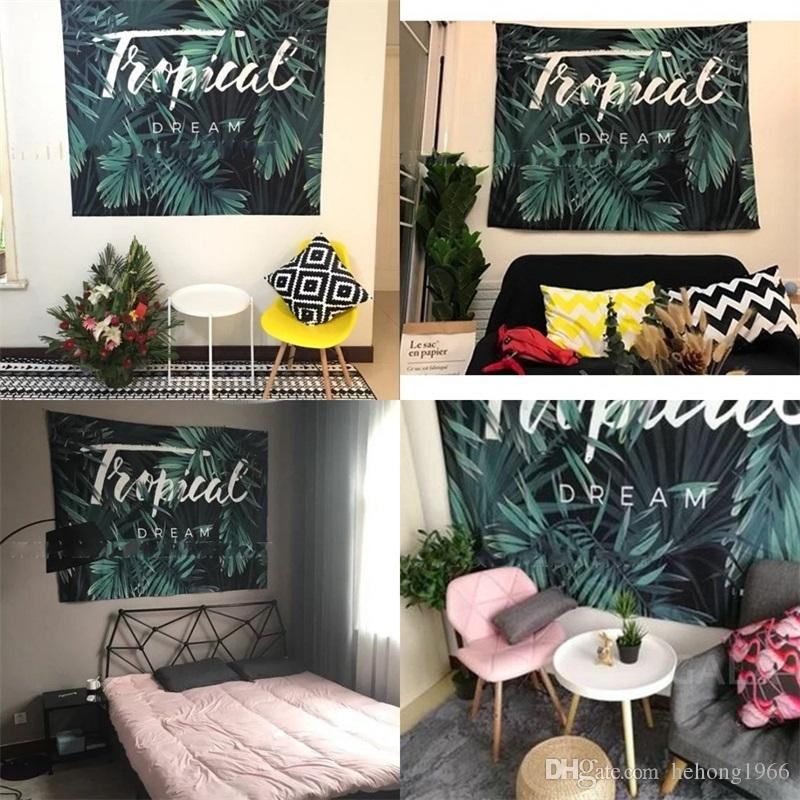 Banana Leaf Tapestry Beach Towel Hanging Cloth Decorative Painting New Terylene Yoga Mat Outdoor Cushion High Quality 25ml3 V