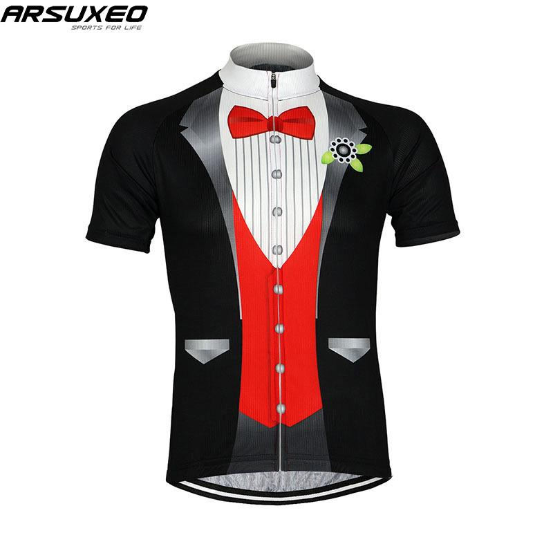 c50ee4646 ARSUXEO Men S Cycling Jersey Bike Bicycle Jersey Short Sleeves Mountain  Clothing MTB Shirts T Shirt SS511 Bike Accessories T Shirts Online From  Pretty05