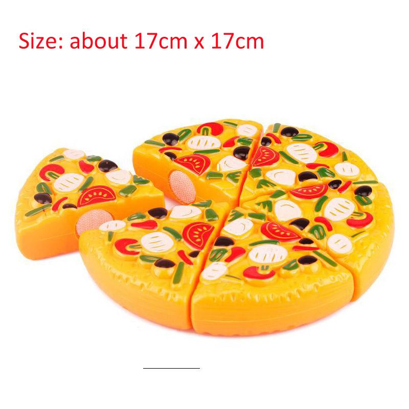 Hot Children Play House Toys Plastic Fruit Vegetables Cake Pizza food cutting toys Kitchen toys set