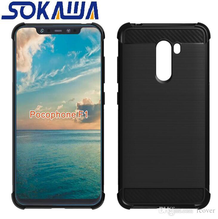 info for 52065 826e9 For Xiaomi Pocophone F1 Case Transparent Skin Gel Clear Armor Hybrid Fiber  Soft TPU Silicon Rubber Protection Shell Cover