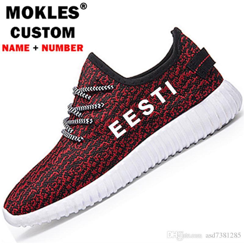ESTÔNIA sapatos masculinos da juventude diy livre número de nome feito sob encomenda est sapatos bandeira da nação ee estoniano estoniano estoniano est ...