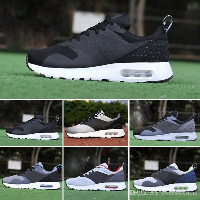 meet 89cd5 14cb7 Compre Nike Air Max Tavas Thea 87 2017 Nuevos 87 Tavas Camuflaje Zapatos  Casuales De Los Hombres 100% Original Todos Negro 87 Thea Sport Shoehot  Zapatos ...