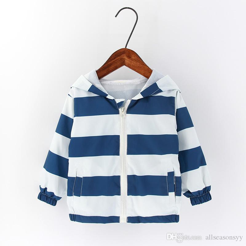 dff72000e 2018 New Summer Autumn Children Outerwear & Coats 2 7T Rainbow Striped  Style Boys Girls Jackets Casual Hooded Top Clothing Girls Boy Winter Jackets  Cheap ...