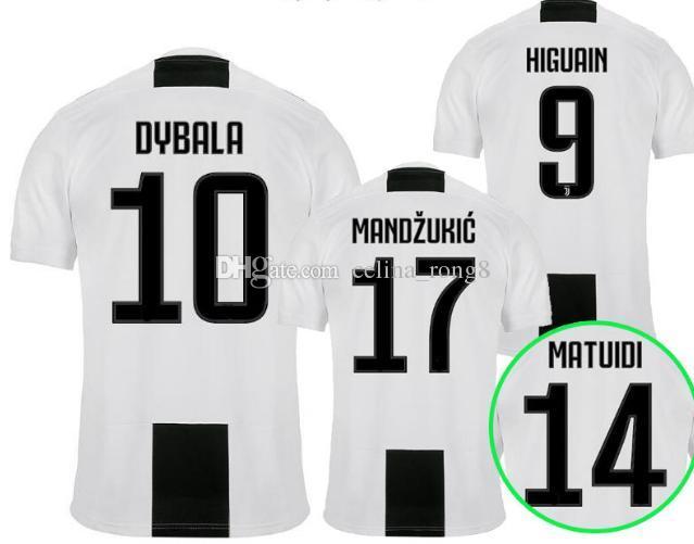 2018 2019 DYBALA Camiseta De Fútbol MANDZUKIC Camiseta Local 2018 HIGUAIN  MANDZUKIC D. COSTA Da Calcio MARCHISIO KHEDIRA Camisetas De Fútbol Camiseta  Por ... 07d604b55d924