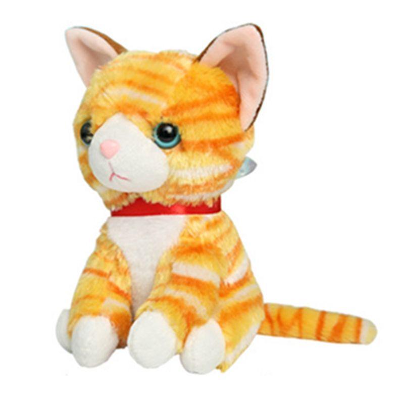 2019 15cm 6 Super Cute Soft Cat Plush Toy Big Eyes Anime Stuffed