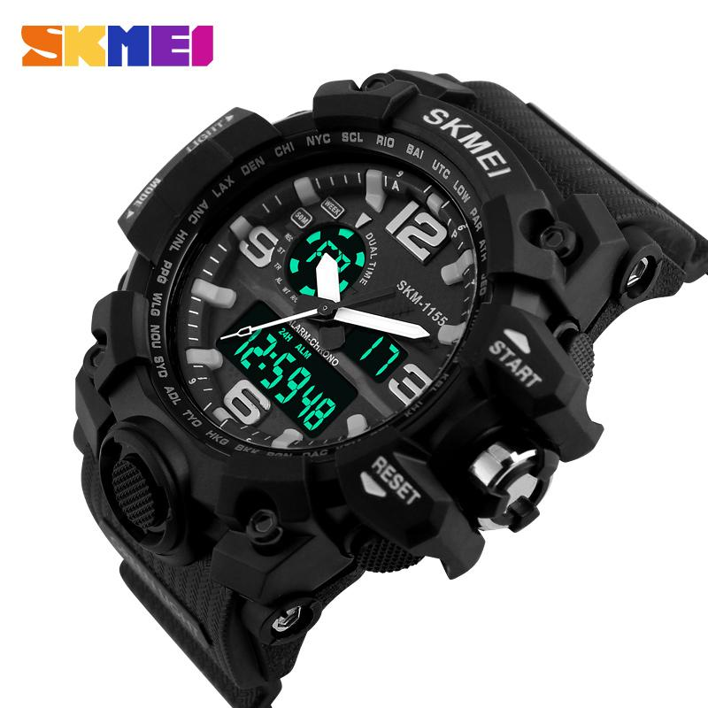 Mens Watch Led Digital Date Sports Army Males Quartz Watch Outdoor Electronics Men Clock For Sports Wristband Running Gift Crazy Price Lover's Watches