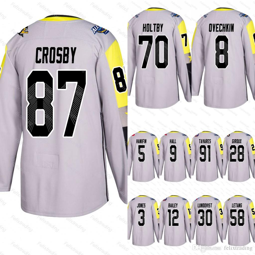 2019 87 Sidney Crosby 2018 All Star Taylor Hall Josh Bailey Kris Letang  Seth Jones Noah Hanifin John Tavares Claude Giroux Metro Division Jersey  From ... bb559c5fd