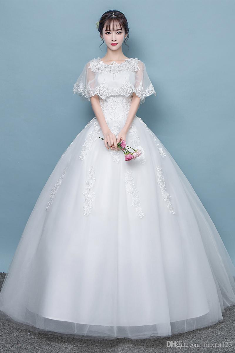 2018 Weeding Gowns Spring And Autumn New The One Word Korean Version ...