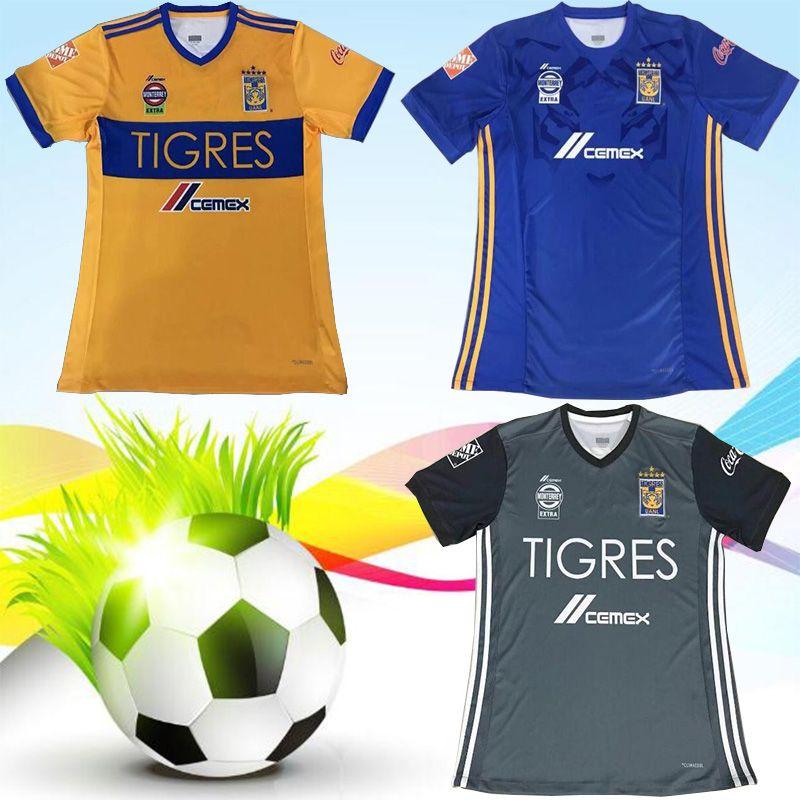 d49f6eb12 Top Thai Quality 2018 2019 Tigers UANL Soccer Jerseys GIGNAC Vargas ...