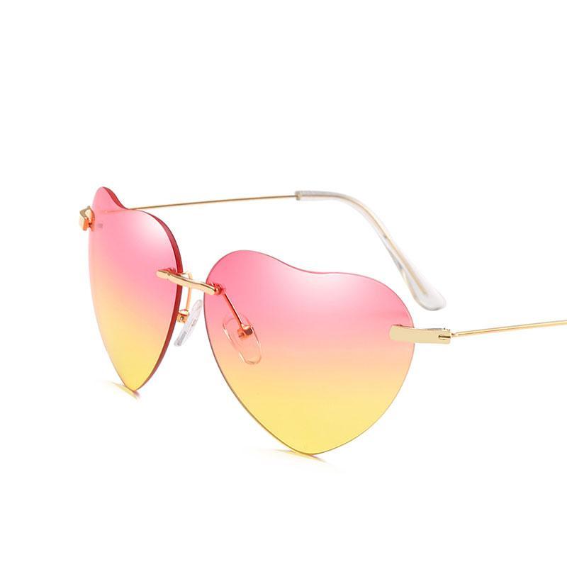 2e6b1dff57 Brand Luxury Designer Sunglasses Polarized Lovely Heart Shape Sun Glasses  Transparent Plastic Mirror Lunette De Soleil Femme Native Sunglasses  Wholesale ...