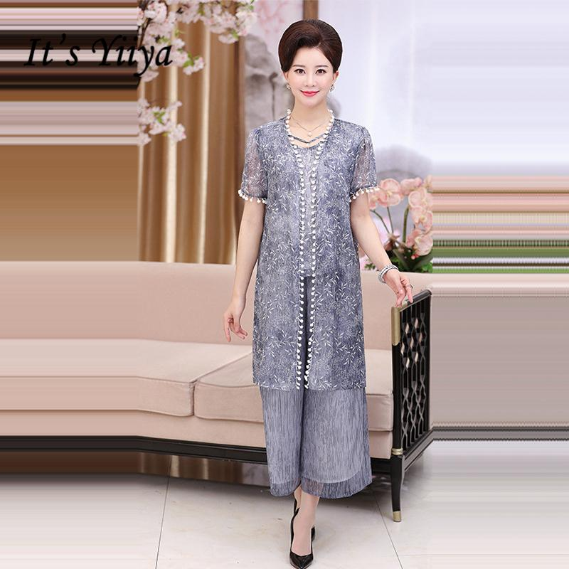ce7a1bb30b It's Yiiya Mother of the Bride Dresses Plus Size Embroidery 3 piece set  Fashion Designer Lace Elegant Mother Dress M003