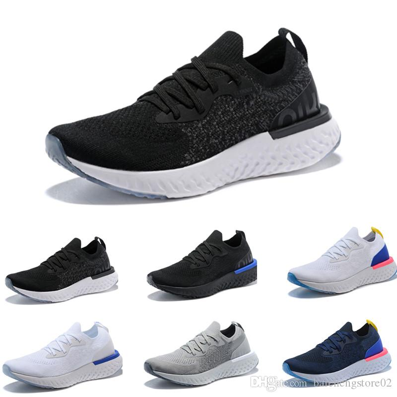 ff011cd298e Compre Nike Flyknit Epic React 2018 New HOTSALE Epic React Knitting Mens  Zapatos Casual Casual Shoes Aire Alta Elástico Hombres Y Mujeres Sports  Trainer ...