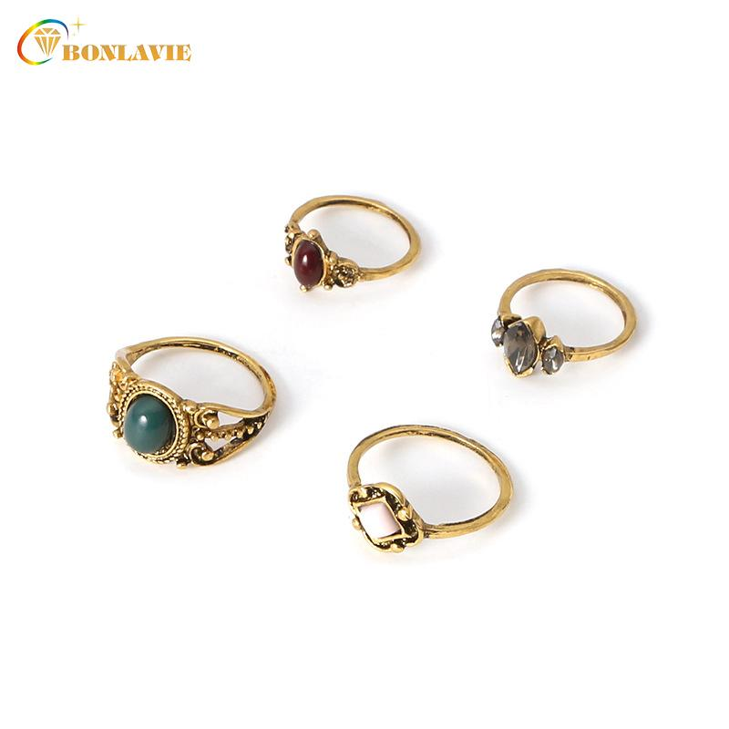 Whole SaleFashion Gold Color Ring Set Multicolor Stone Charm Rings Women  Vintage Beach Jewelry Knuckle Ring UK 2019 From Saucy 3db2a29982