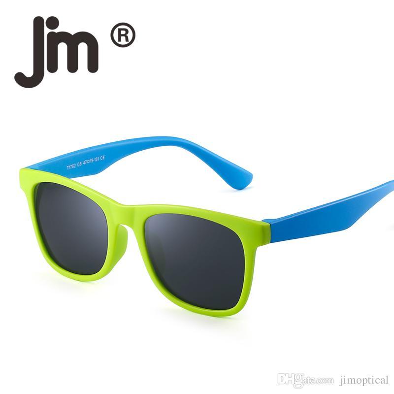 d92b229ebd85f Compre Jm Polarizada Crianças Óculos De Sol De Borracha Inquebrável Meninos  Meninas Crianças Quadrado Óculos Flexível Óculos De Sol Idade 3 12 De  Jimoptical ...