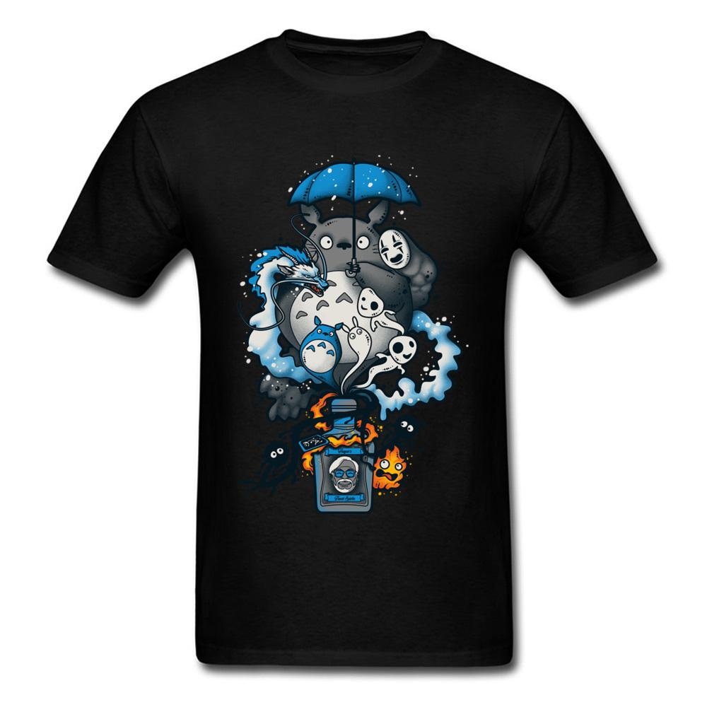 af349887f Bottled Spirits T Shirt Men T Shirt Neighbor Totoro Tshirt Spirited Away  Faceless Tops Tees Anime Clothing Japan Style Online with $28.54/Piece on  ...