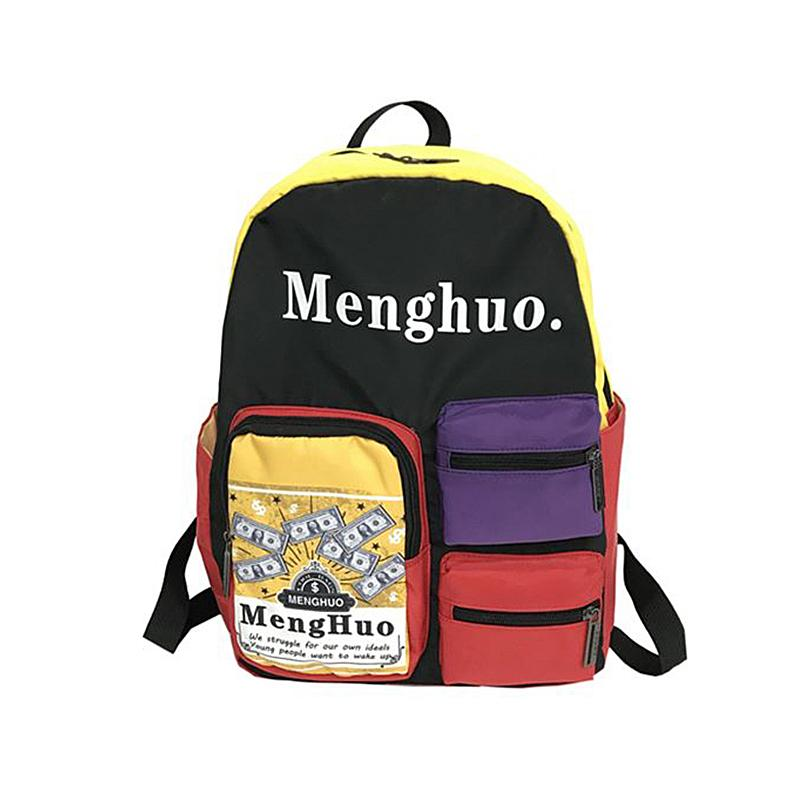 fa5f8c9445 Casual Nylon Backpack Student Shoulder Book Bags Popular Hip Pop Fashion  Printing Street Punk Style Cool Bag For Teenagers Water Backpack Mesh  Backpack From ...