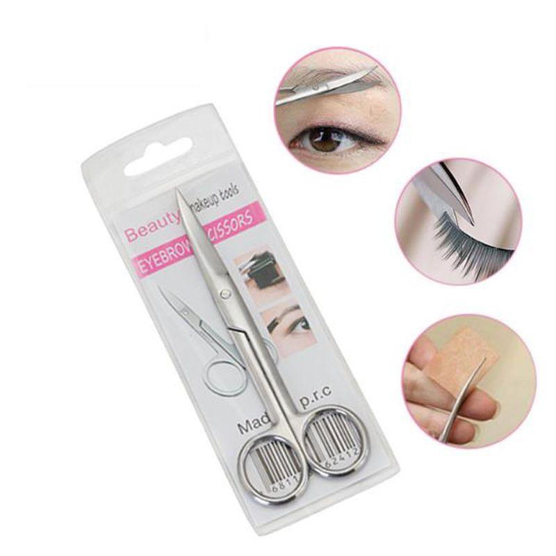 Neue Große Ellenbogen Kopf Schere Edelstahl Augenbrauen Cut Schere Nasenhaarschere Schneiderschere Trimmer Werkzeuge