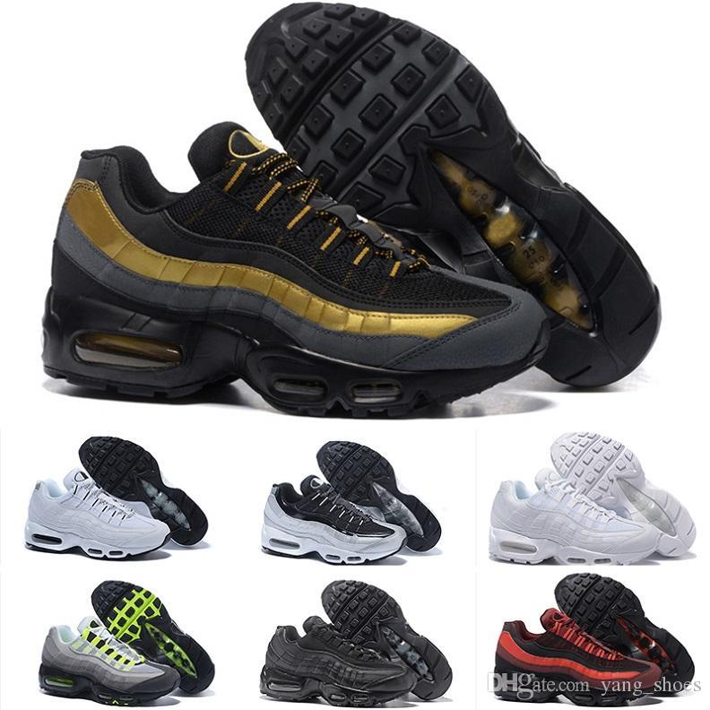 2017 Nike Air Max 95 Hommes OG Coussin Marine Sport Air De Haute Qualité Chaussure Bottes de Marche Hommes casual chaussures Air Cushion Sneakers