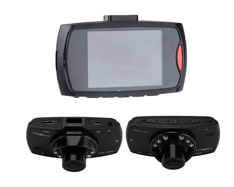 "2Ch car dashcam digital video recorder car DVR 2.7"" screen front 140° rear 100° wide view angle FHD 1080P night vision"