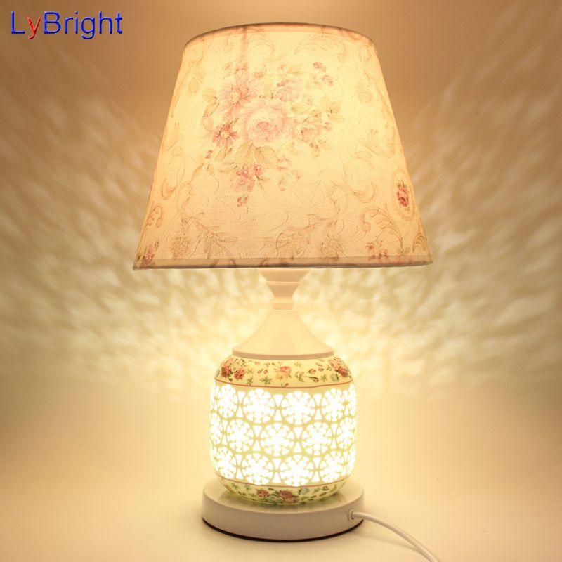 2019 Modern European Ceramic Table Light AC 90 260V Table Lamp Desk ...