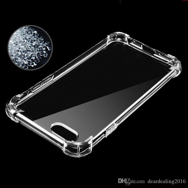 Anti Knock Air Cushion Acrylic Clear Bag Transparent Thick Soft TPU Case For iPhone X 7 6S 6 8 Plus Phone Cover