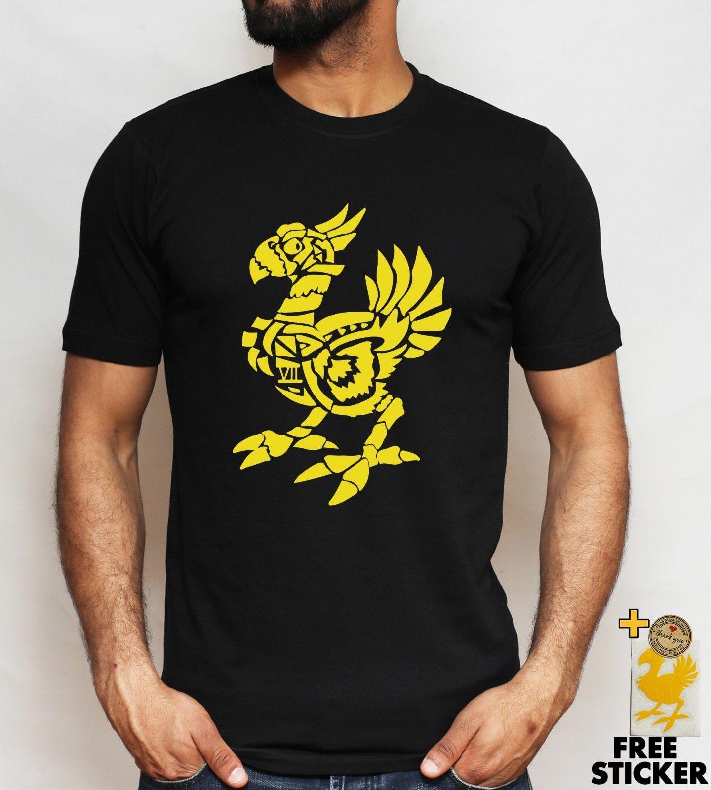 Chocobo FF7 FF15 T Shirt Cloud Final Fantasy Fans Cool Gamers Tee For Men  Women