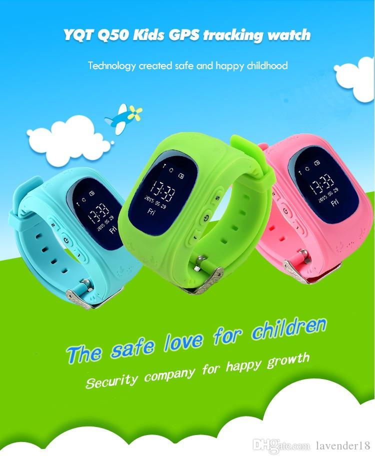 Q50 Smart Watch Wrist band SOS Call GPRS GSM Digital Watch Children Anti-Lost Locator GPS Tracker